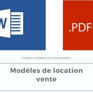 Modele De Contrat Location Vente Avec Prix Ferme Et Definitif Credit Vendeur